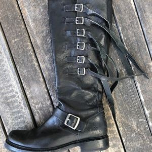 Used Frye Veronica Tall Strap boot